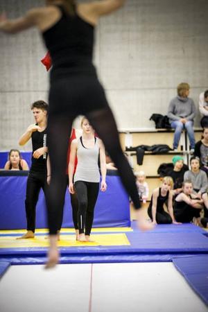 Gymnastiken hade öppet hus och massor av unga deltagare visade upp sina konster.