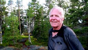Jan Eriksson, Nordsjö, som gick upp för berget för 98:e gången i år.