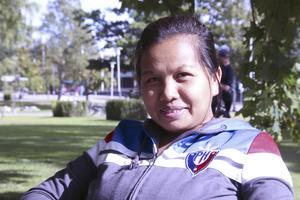 Mhey Dichos, 31 år, mammaledig, Fagersta: – USA. Jag har aldrig varit dit och jag skulle vilja se frihetsgudinnan.