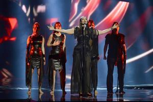Serbiens Sanja Vucic ZAA framför bidraget Goodbye (Shelter.