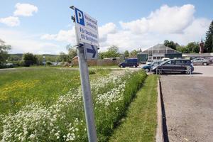 Det är delar av den här täkten som Rosehills Blommor vill nyttja till bilparkering. Foto: Stig Andersson/Arkiv.