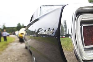 Bilar av olika modeller visades i helgen.