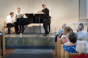 Festivalgeneralerna Carron och Widlund inledde kammarmusikfestivalen.