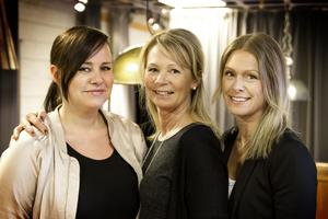Sara Dahlberg, Helene Svedberg och Stina Eriksson är Permia inredningars nya ägare.