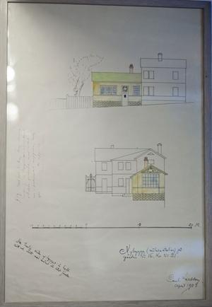 Carl lämnade in ritningen på sin nya ateljé 1908 och byggde genast, trots att förslaget godkändes först senare.