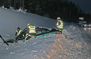 Två bilar kolliderade i Hästbo vid 15-tiden.