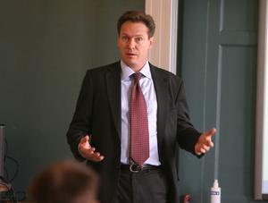 Jonas Carlsson, chef för Svenska Exportrådets kontor i Shanghai, besökte Gävleborg under onsdagen.