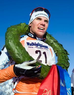 Håkan Löfström, Falun Borlänge SK, tog guldet i herrklassen.
