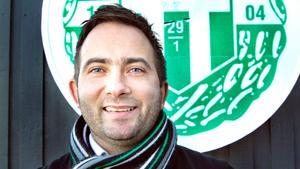VSK Bandys klubbchef Michael Campese hoppas på folkets stöd i kväll.