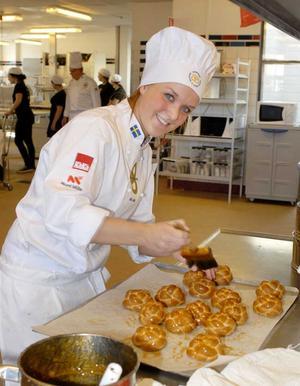 Ida Juhlin kom på tredje plats i SM för unga bagare.