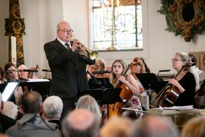 Mats Siggstedt på trumpet.