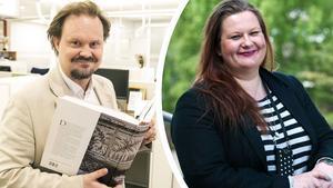 Jens Runnberg, politisk redaktör på DT och Anna Gullberg, Gefle Dagblads chefredaktör.