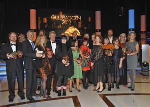 Pristaagarna på Guldbaggegalan 2012 på Cirkus i Stockholm.