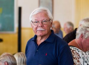 Sten Ekström, ordförande i Tynderö hembygdsförening.