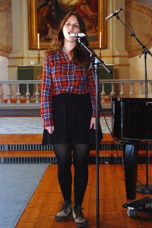Kajsa Vogel sjöng den finstämda sången