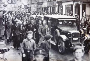 Kaj Munks begravningsfölje blev en massiv, folklig protest mot ockupationsmakten.