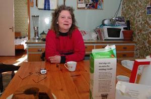 - Det behövs ett nytt Dalauppror, så här kan det inte fortsätta längre, säger Agneta Lindhamn, arbetslös sjubarnsmamma i Dysberg i Älvdalen. Foto:BjörnRehnström