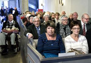 Bollnäs kyrka var fullsatt och publiken bjöds bland annat på klassiska verk av Carl Michael Bellman och Evert Taube.