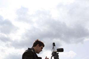 Jonatan Brixel Petré under filminspelningen av