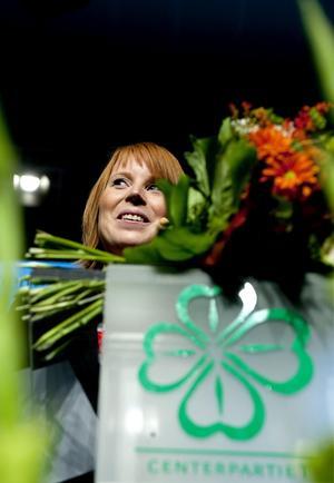 I händelsernas centrum. Annie Lööf valdes till ny partiledare för Centerpartiet igår.foto: scanpix