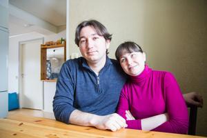 Vlad och Ganna Varakuta är glad över att Hede- och Byborna engagerat sig i deras ärende.