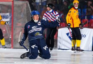 Ilja Grachev jublar efter ett av sina 18 mål förra säsongen.