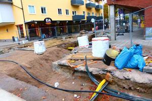Projektet med att renovera gågatorna i Sandvikens centrum ska pågå i fyra år.
