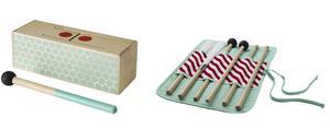 Ikea återkallar Lattjo trumpinnar och slaginstrument på grund av kvävningsrisk.