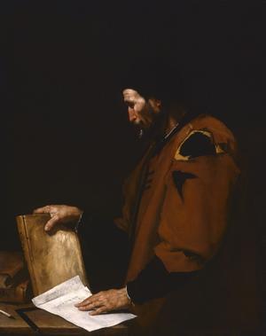 Den spanske konstnären José de Riberas oljemålning