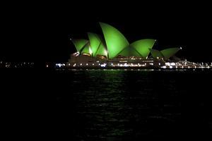 Operahuset i Sydney lyste grönt år 2012. Likaså i år.