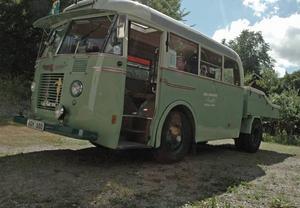 Ovanlig buss. Chevroleten har rullat i Norrbotten.