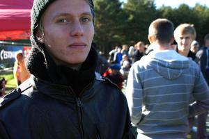 Ivan Levoshko på plats på Hiiu Stadion i Tallin för att titta på fredagens derby mellan Nömme Kalju och FC Levadia.