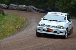 Så här såg det ut förra året när Andreas Levin, Lima MS, tog sig upp för backen i Torgås med sin Nissan Sunny.