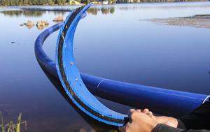 Helsinge Vatten har specifikt valt en plast som är mer skraptålig, för att undvika framtida läckage.