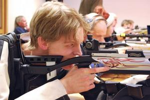 Timmy Westgård är inne på tredje året av skytteträning.