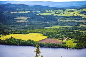 Vacker utsikt från Hällberget.