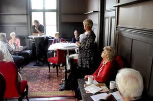 Marianne Larm-Svensson mötte Centerpartiets pensioärsmedlemmar på fredagsförmiddagen. Hennes huvudmål är ett län med fler, friskare och rikare medborgare.