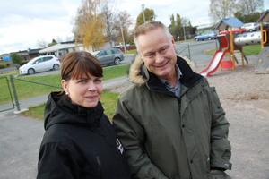 Sofia Jarl och Torben Stenström, folkhälsoplanerare ser fram emot Hälsoveckan. Tanken är att få personer som inte tränar att våga pröva på.