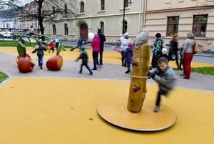 Det var mycket nytt och mycket skoj tyckte barnen som tog chansen att prova parken.