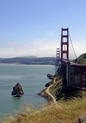 Den röda hängbron Golden Gate i San Francisco är en av historiens mest omskrivna.   Foto: Emeli Emanuelson