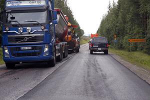 Mycket asfalt har det gått åt.