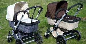 Kan du se skillnad på den äkta och den piratkopierade barnvagnen? Den bruna är original.
