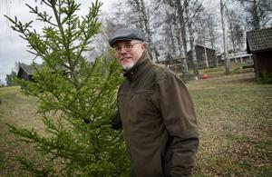 Lars Grunesjö hittade en perfekt utegran på julmarknaden i Delsbo