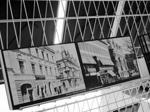 Historiska bilder bredvid nytagna från samma plats i Stenstan. Kring den idén kretsar Design Sundsvall.