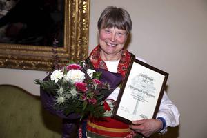 Margareta Wikström tilldelades Rättviks miljöpris.