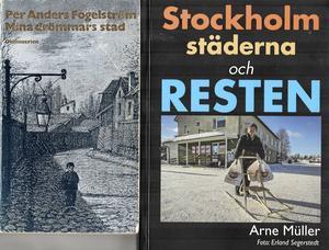 Böckerna Mina drömmars stad och Stockholm, städerna och resten skildrar och problematiserar urbaniseringen i Sverige.