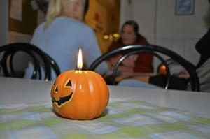 I torsdags kväll var det Halloween-tema i Finnerödja parken.