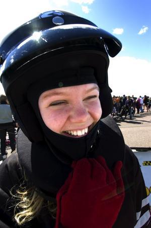 Skrattar bäst som skrattar sist. Jojomensan, för jag är snabbaste tjejen i stan! Foto:Johan Larsson
