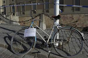 Ingen bra idé. Den här cykeln löper risk att bli bortplockad.