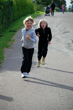 Bra fart i backarna och bra träningen fick eleverna i Vikarbyn på onsdagen.